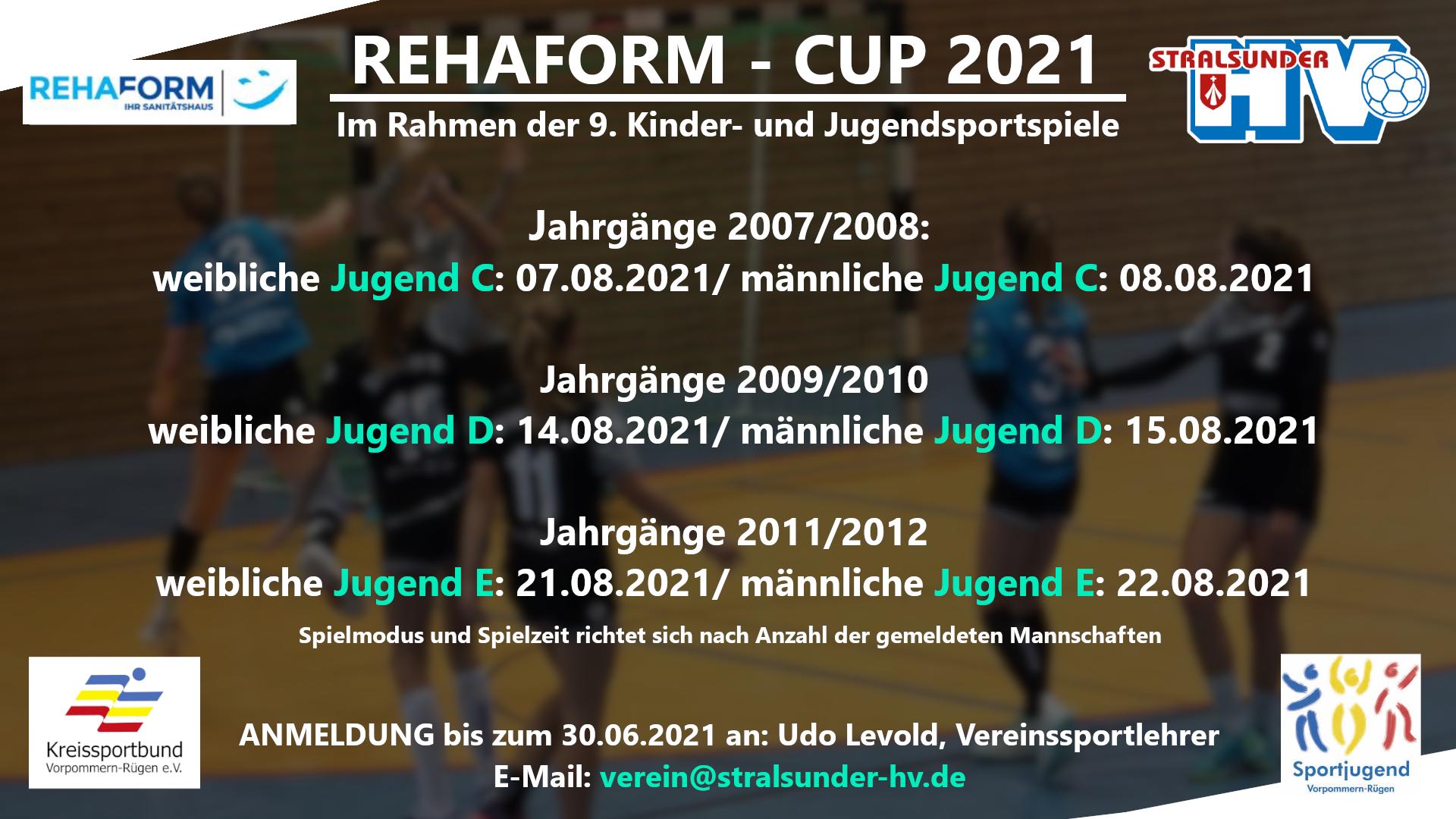 Der REHAFORM-CUP geht in die nächste Runde