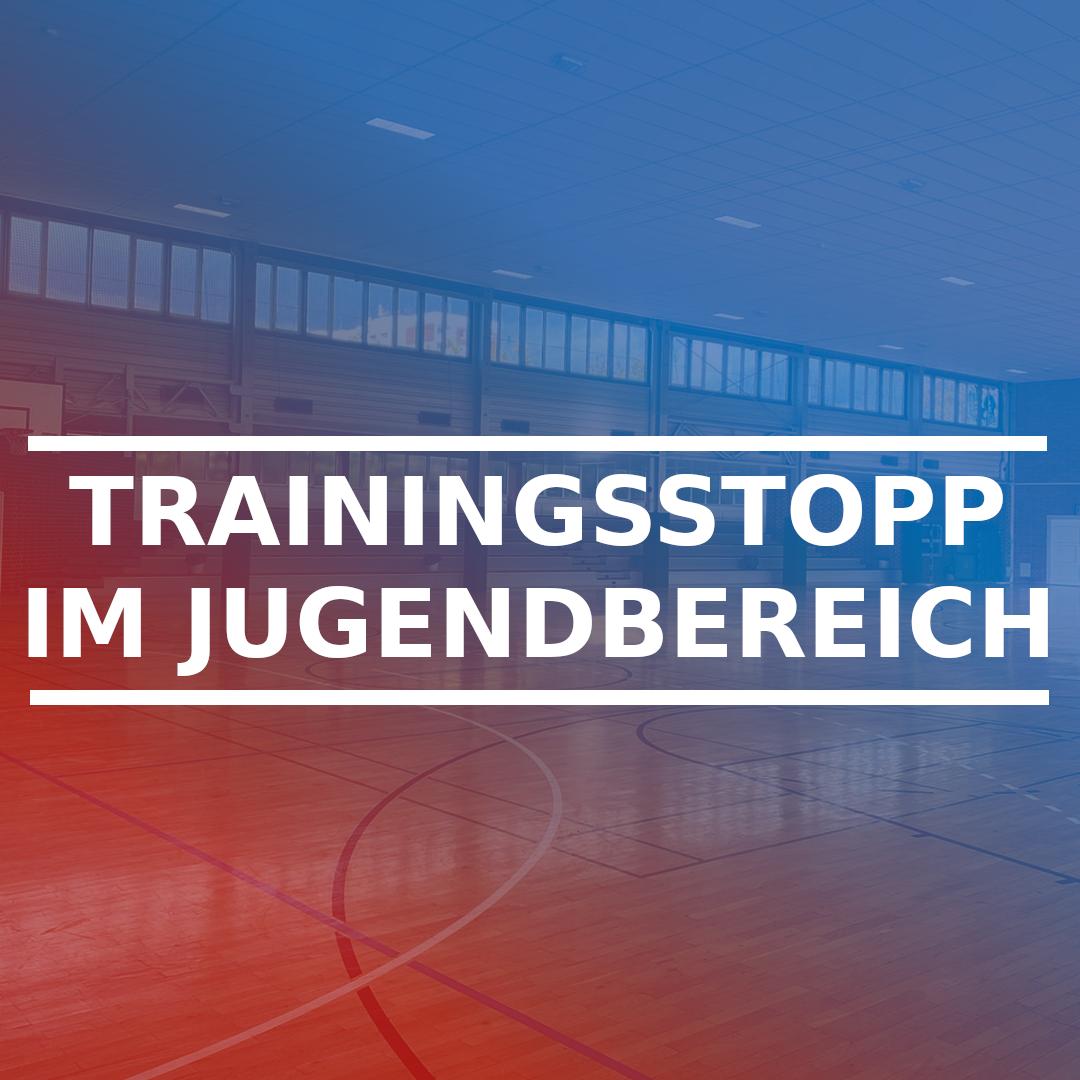 Trainingsstopp im Jugendbereich‼️