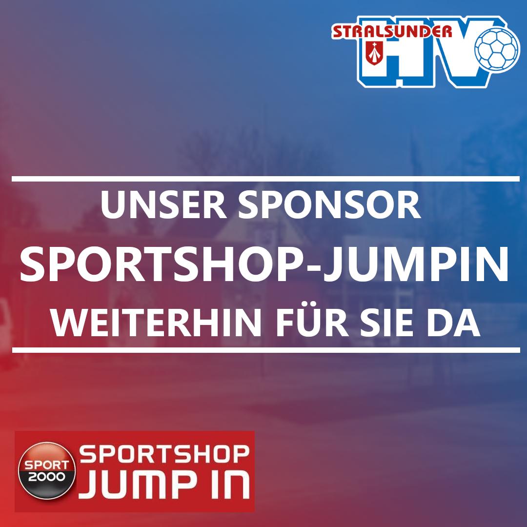 Unser Sponsor SPORTSHOP-JUMPIN I weiterhin für sie da