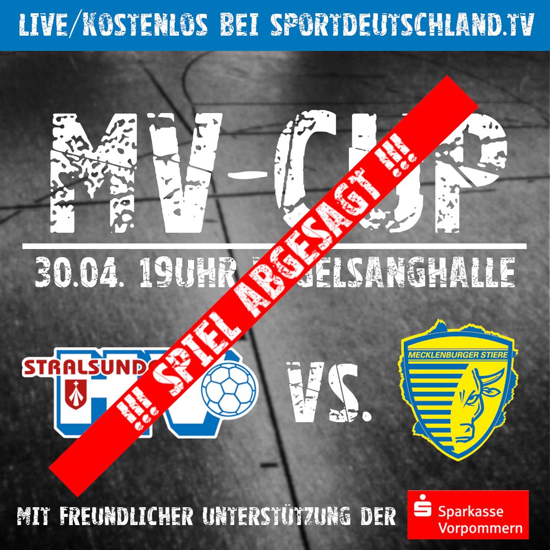 You are currently viewing MV-Cup | Heimspiel gegen die Mecklenburger Stiere wird verschoben